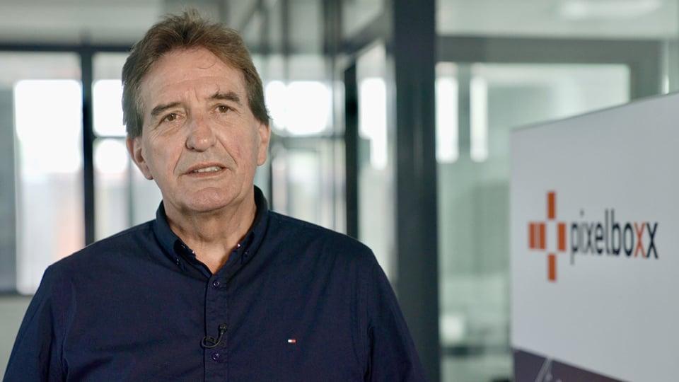 Antonius Huerkamp, Geschäftsführer der Pixelboxx GmbH, spricht über seine Erfahrungen in der Zusammenarbeit mit itemis