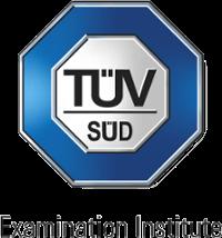 Logo des TÜV Süd Examination Insitute, das die Zertifizierung im Anschluss an die Product Owner Schulung durchführt
