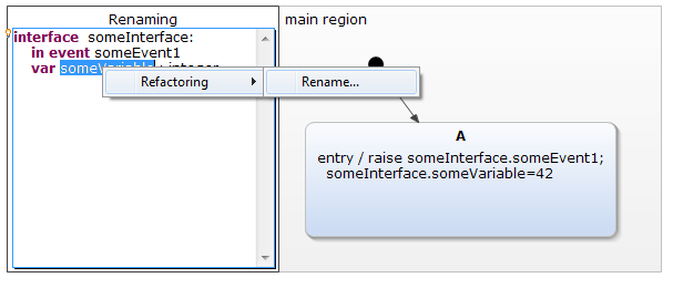 Renaming a variable