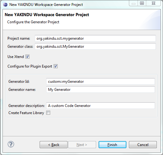 Creating an Xtend2 generator project