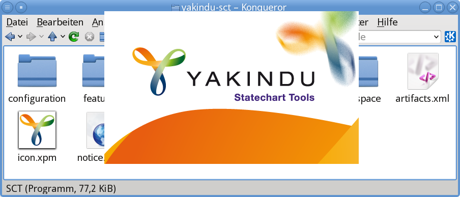 YAKINDU Statechart Tools starting up and showing a splash screen