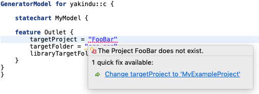 Quickfix for changing project name