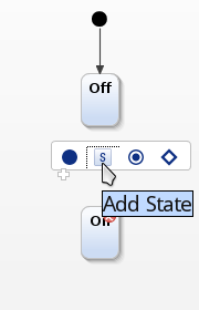 Creating a state using the popup menu