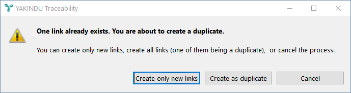 Warning duplicate links