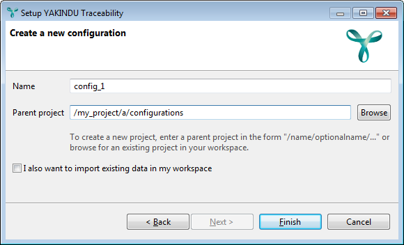 Creating a new configuration
