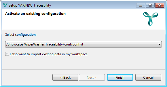 Activating an existing configuration