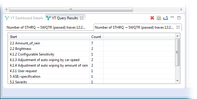Inspecting query results